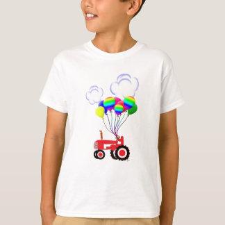 T-shirt Tracteur avec des ballons