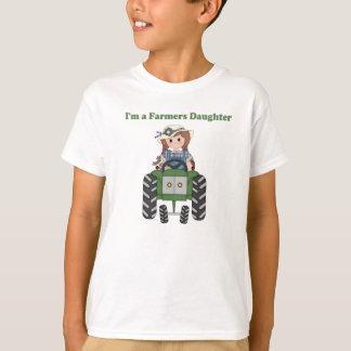 T-shirt Tracteur de fille d'agriculteurs