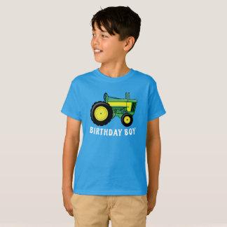 T-shirt Tracteur de pays de ferme de garçon d'anniversaire