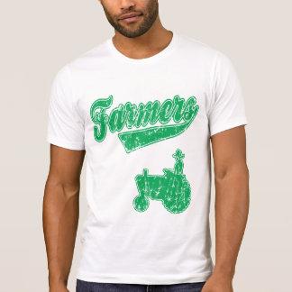 T-shirt Tracteur vert d'agriculteurs
