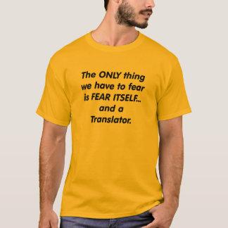 T-shirt traducteur de crainte