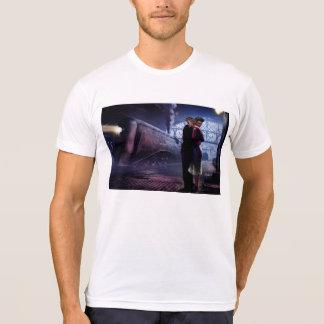 T-shirt Train bleu