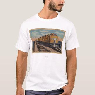 T-shirt Train croisant le Grand Lac Salé, Ogden, Utah