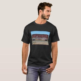 T-shirt Train de fret de rouille avec le graffiti (chemise