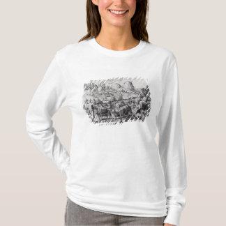 T-shirt Train de paquet des lamas chargés avec de l'argent