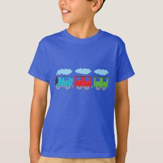 T-shirt Train et deux chariots