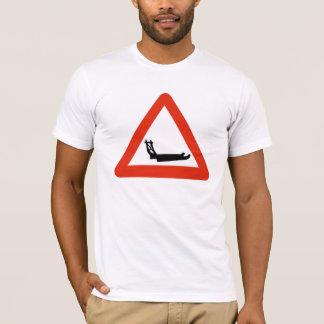 T-shirt Traîneaux de chien croisant, poteau de
