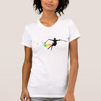 T-shirt traînée de poudre de ski