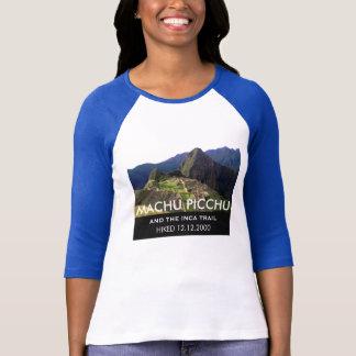 T-shirt Traînée faite sur commande d'Inca de Machu Picchu