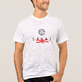 T-shirt Transitoire rouge de volleyball - burn-out