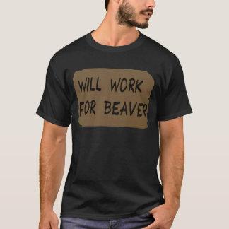 T-shirt Travaillera pour le castor