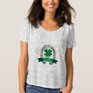 T-shirt Trèfles chanceux se sentants de shamrock