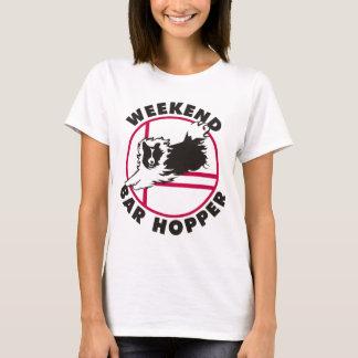 T-shirt Trémie de barre de week-end d'agilité de Sheltie