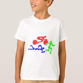 T-shirt TRI chiffres conception de COULEUR de course de