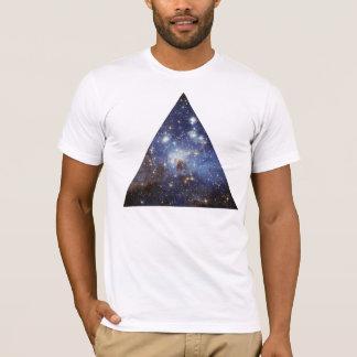 T-shirt triangle de l'espace de hippie