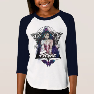 T-shirt Triangle de tribal de femme de merveille