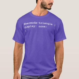 T-shirt Triangle des Bermudes de programmeur de promoteur