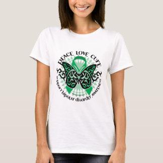 T-shirt Tribal 2 de papillon de trouble bipolaire