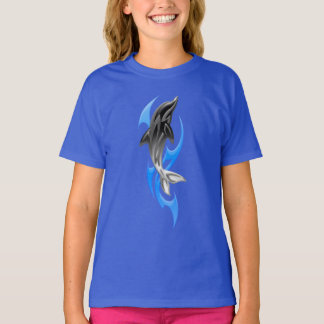 T-shirt tribal de dauphin