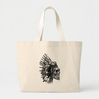 T-shirt tribal de graphique de crâne, d'armes à grand sac