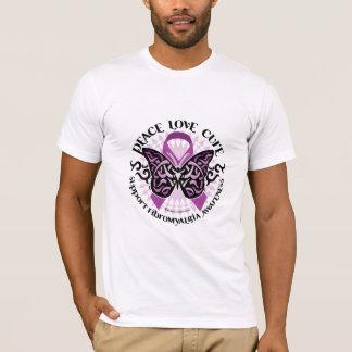 T-shirt Tribal de papillon de fibromyalgie