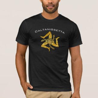 T-shirt Trinacria sicilien en or personnalisent