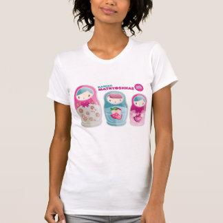 T-shirt trio de matryoshka de kawaii