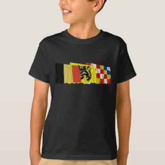 T-shirt Trio de ondulation de drapeaux d'Anvers