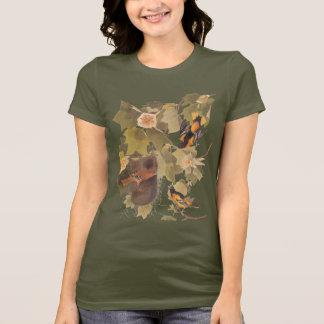 T-shirt Trio d'oiseau de Baltimore Oriole