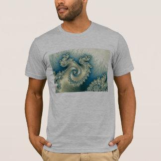 T-shirt triple de pirouette de bord de la mer