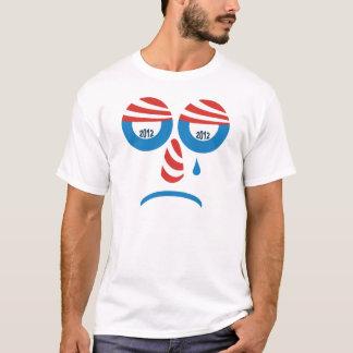 T-shirt triste de visage d'Obama 2012