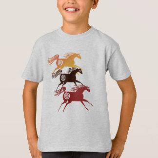 T-shirt Trois chemises antiques de chevaux