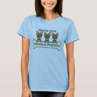 T-shirt Trois Pinschers miniatures