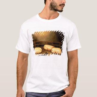 T-shirt Trois porcs professionnels en dehors d'une étable