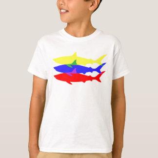 T-shirt Trois requins colorés