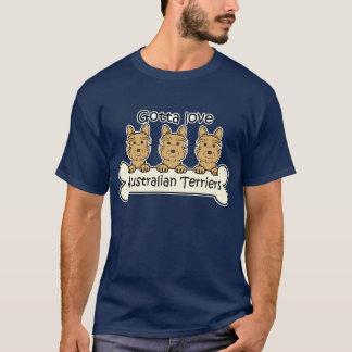 T-shirt Trois terriers australiens