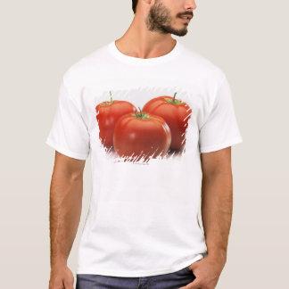 T-shirt Trois tomates sur le compteur, plan rapproché