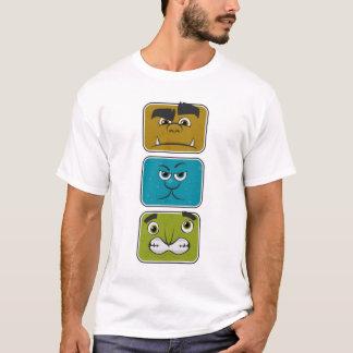 T-shirt Trois visages de monstre