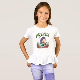 T-shirt Troisième chemise inférieure hérissée de sirène de