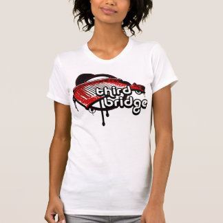 T-shirt troisième pont. white&red.