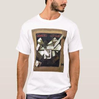 T-shirt Trompe - l ' oeil avec les lettres et les carnets,