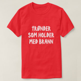 T-shirt Trønder qui soutiennent Brann en rouge norvégien