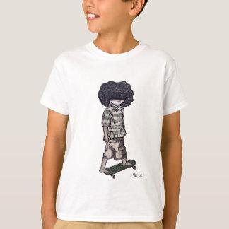 T-shirt Trop cool à la planche à roulettes