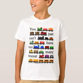 T-shirt Trop de trains
