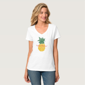 T-shirt tropical d'ananas du paradis des femmes