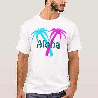 T-shirt tropical de palmiers d'Hawaï
