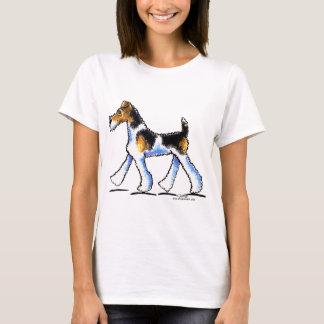 T-shirt Trot de Fox Terrier de fil