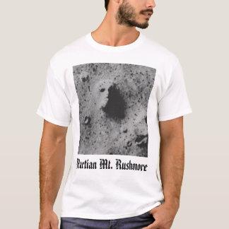 T-shirt trouble le visage, le mont Rushmore martien