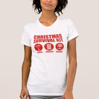 T-shirt Trousse de survie de Noël - cocktail