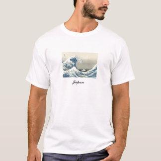 T-shirt Tsunami et illustration japonais antiques du mont